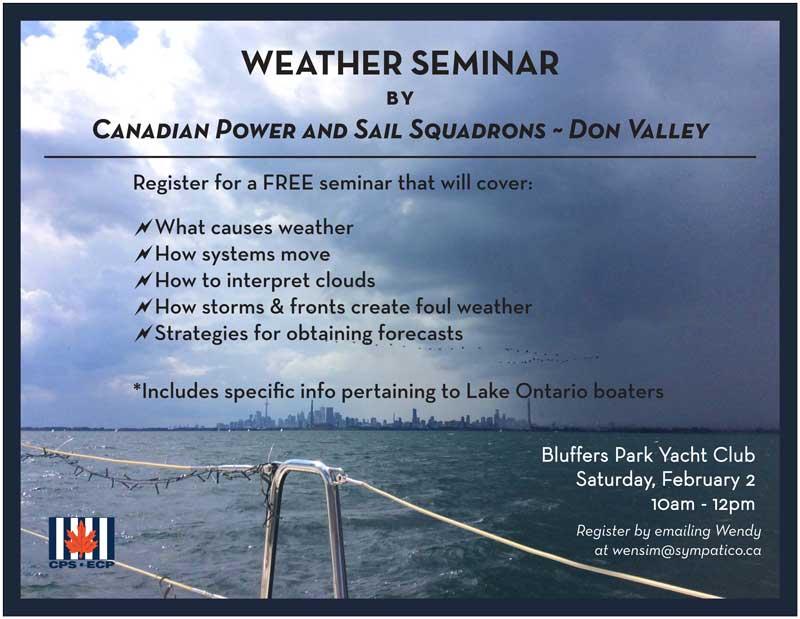 Weather Seminar Poster